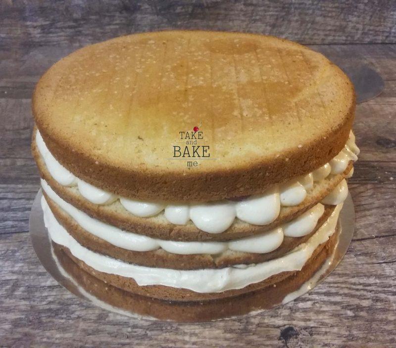 бисквитный торт с крем- чизом