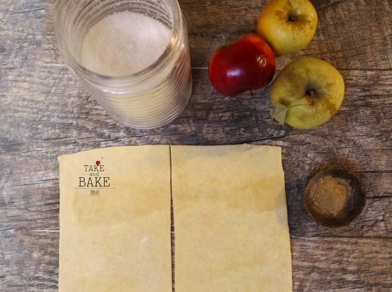 слойка с яблоком